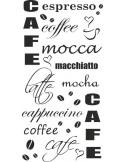 Naklejka do kuchni cafe mocca cappucino latte 69