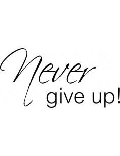 Never give up 171