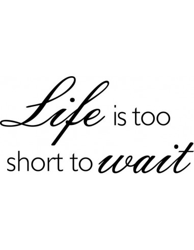 Life is too short to wait 190