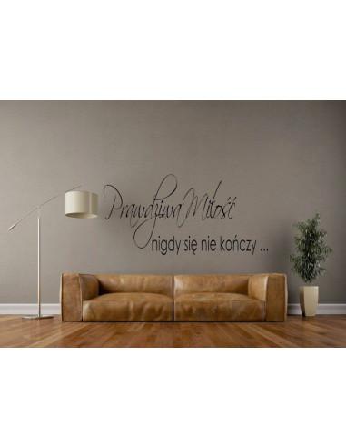 naklejki na ścianę Prawdziwa miłość nigdy się nie kończy 9
