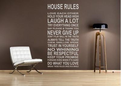 House rules - naklejka na ścianę - wzór 23