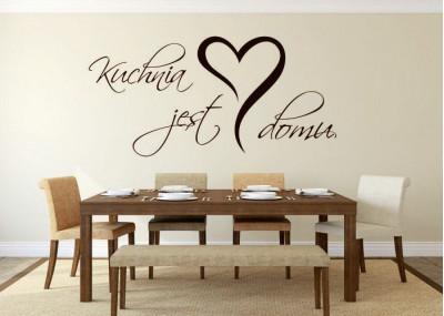 naklejka na ścianę Kuchnia jest sercem domu 145