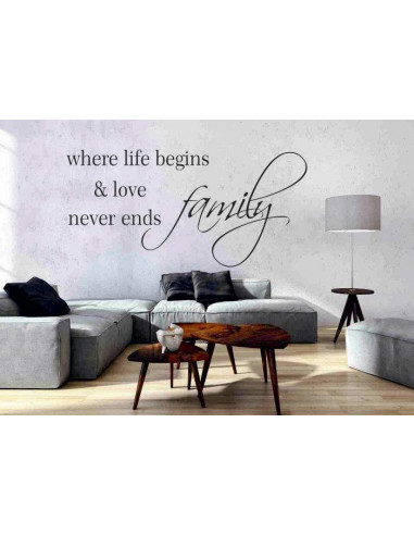 Family where life begins nad love never ends 156
