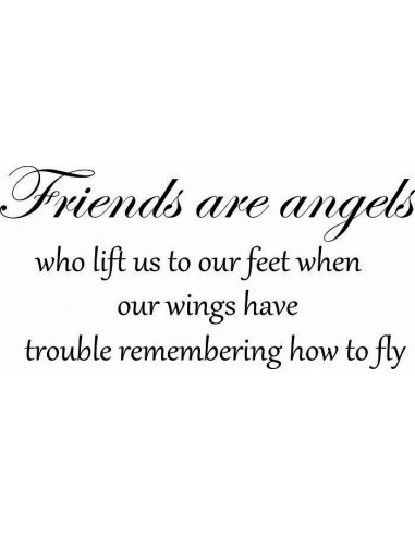 Friends are angels who lift us to feet when our wings have trouble remembering how to fly 246