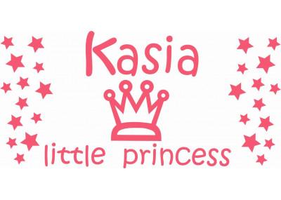 naklejka ścienna z imieniem dziecka -  little princess motyw 502