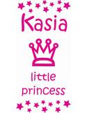 naklejka ścienna z imieniem dziecka -  little princess motyw 503