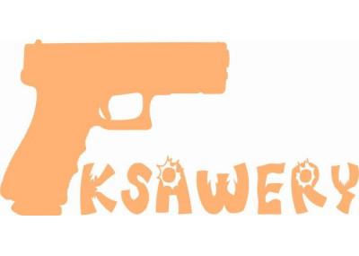 naklejka ścienna z imieniem dziecka motyw  pistolet 553