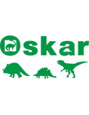 naklejka ścienna z imieniem dziecka motyw dinozaury 570