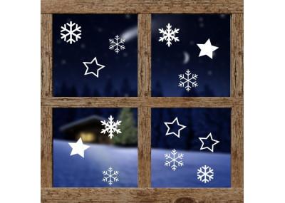 dekoracja na okno - śnieżynki 600