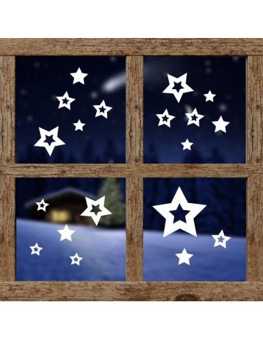 dekoracja na okno - gwiazdeczki 602