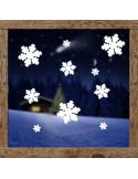 dekoracja na okno - śnieżki 603
