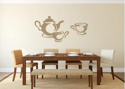 Naklejka do kuchni kawa herbata 704