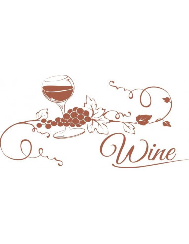 Naklejka do kuchni wino 705