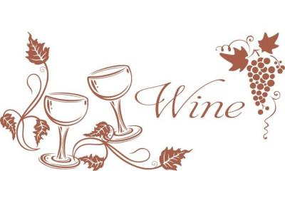 Naklejka do kuchni wino 708