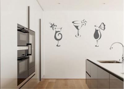 Naklejka do kuchni drink 716