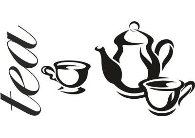 Naklejka do kuchni herbata 726