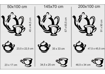 Naklejka do kuchni herbata 727
