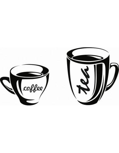 Naklejka do kuchni kawa herbata kubki 734