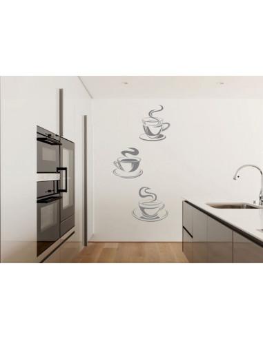 Naklejka do kuchni filiżanki kawa herbata 737