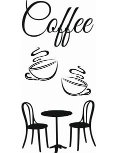Naklejka do kuchni czas na kawę 738