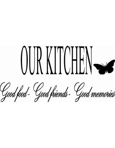Naklejka do kuchni our kitchen 748