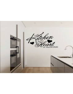 Naklejka do kuchni kitchen is the heart 750