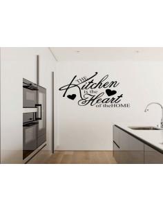 Naklejka do kuchni kitchen is the heart 750