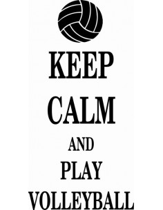 Keep Calm and play volleyball  279
