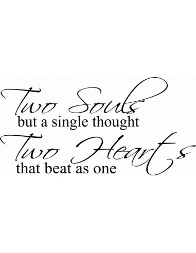 Two souls but a single thought two heart that beat as one  295
