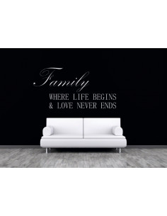 Family where life begins nad love never ends 155