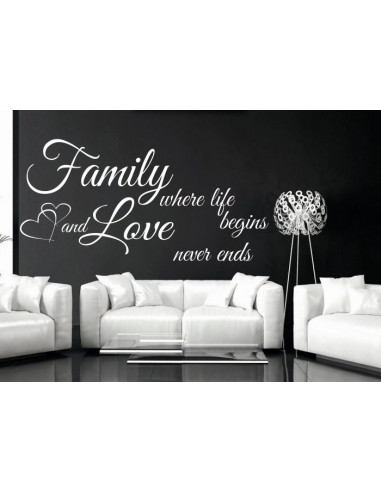 Family where life begins nad love never ends wzór 165
