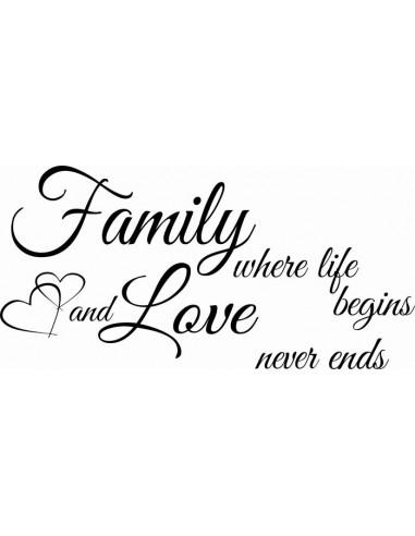 Family where life begins nad love never ends wzór 165
