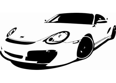Naklejka samochód sportowy 1303