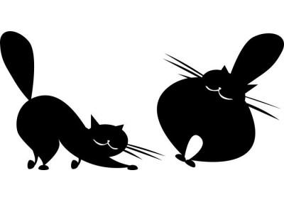 Naklejka na ścianę koty 1013