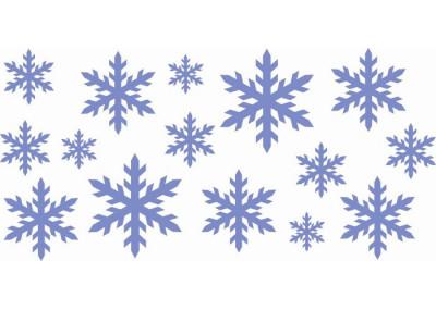 Naklejka świąteczna gwiazdki Płatki 628