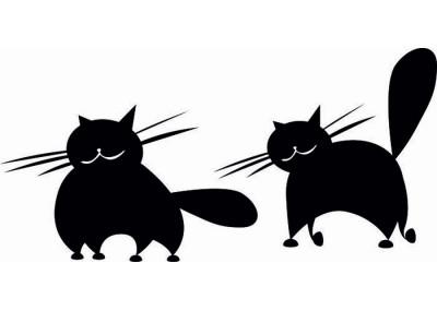naklejka ścienna z kotami 1014
