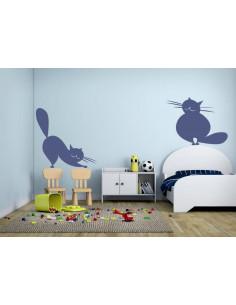 naklejka na ścianę koty 1015