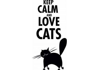 naklejka na ścianę keep calm and love cats 1024