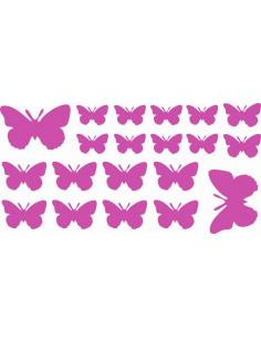 Naklejki na ścianę do pokoju dziecka - Motylki