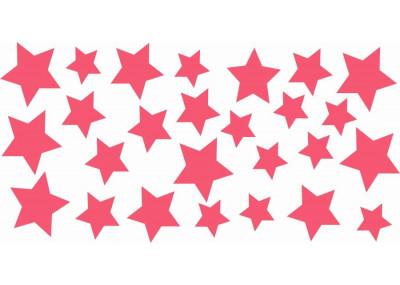 Naklejki na ścianę do pokoju dziecka - Gwiazdki 1102