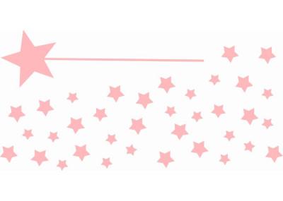 Naklejki na ścianę do pokoju dziecka - Różdżka Gwiazdki 1106