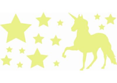 Naklejki na ścianę do pokoju dziecka - Jednorożec Koń Gwiazdki 1107