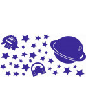 Naklejki na ścianę do pokoju dziecka -kosmos 1112