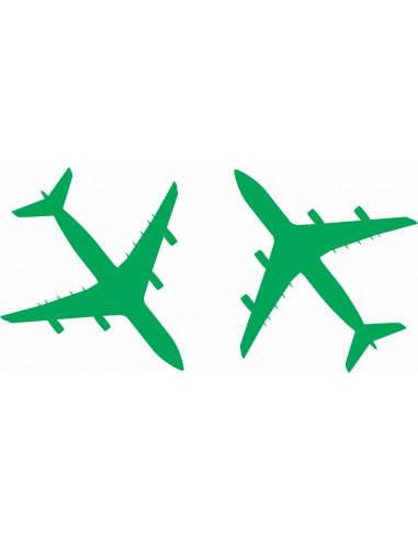 Naklejki na ścianę do pokoju dziecka - Samolot 1122