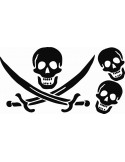 Naklejki na ścianę do pokoju dziecka - Piraci 1123