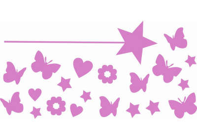 Naklejki na ścianę do pokoju dziecka - Różdżka 1125