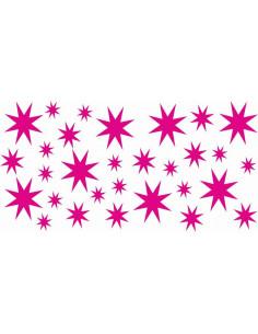 Naklejki na ścianę do pokoju dziecka - Gwiazdki 1131