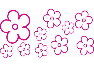 Naklejki na ścianę do pokoju dziecka - Kwiatki 1133