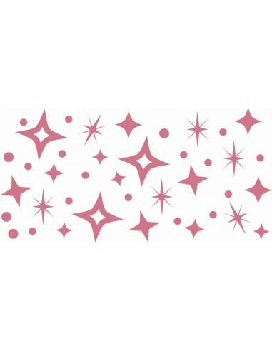 Naklejki na ścianę do pokoju dziecka - Gwiazdki Gwiazdy 1139