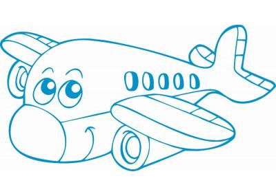 Naklejki na ścianę do pokoju dziecka - Samolot 1140